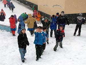 Ereğli'de okullara kar tatili