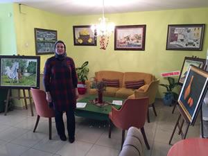 Ressam İlknur Koçak Ansen'in ilk kişisel resim sergisi