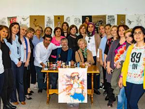 Ressam Mustafa Ali Kasap'ın canlı performansı ilgiyle izlendi