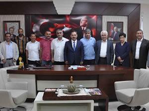 Ereğli Belediyespor'un yeni hocası Aydoğan, Uysal'ı ziyaret etti