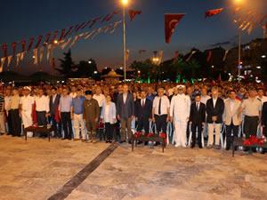 15 Temmuz şehitleri anısına, yürüyüş ve tören düzenlendi