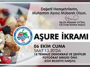 Uysal'dan Aşure Günü etkinliğine davet