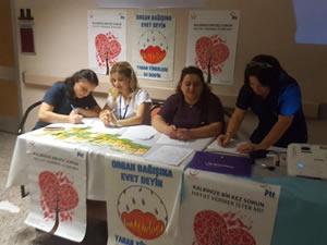 Organ bağışı konusunda farkındalığı artırmak için stant açıldı
