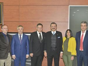 TSO Başkanı Yalçın'dan TOBB Başkanı Hisarcıklıoğlu'na ziyaret