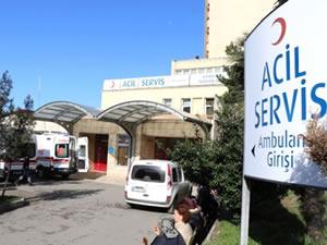 14 inşaat işçisi, zehirlenme şüphesiyle hastaneye kaldırıldı