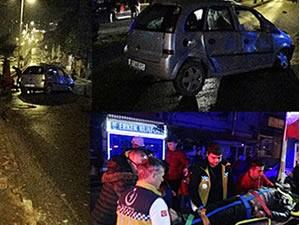 Kontrolden çıkan otomobil takla attı: 2 kişi yaralandı