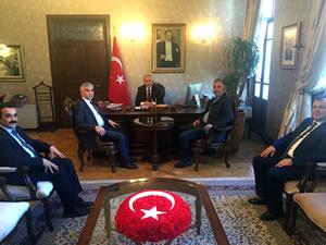 GMİS yönetimi Vali Erdal Ata'ya ziyarette bulundu