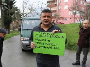 Karşıyaka Mahallesi sakinleri, Çaturoğlu'na tepki gösterdiler