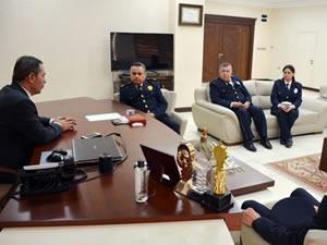 İlçe Emniyet Müdürü Ferdi Kuyu, Belediye Başkanı Uysal'ı ziyaret etti