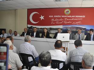 Cumhurbaşkanı Erdoğan'ın danışmanı Oruç, Ereğli Muhtarlar Derneği'ni ziyaret etti