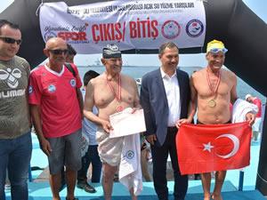 Ereğli'de Açık Su Yüzme Yarışları gerçekleştirildi