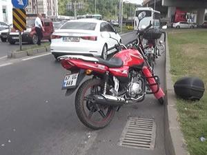 Motosiklet ile otomobilin çarpıştığı kazada bir kişi yaralandı