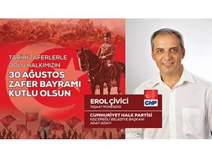 CHP Belediye Başkan Adayı Çivici'nin 30 Ağustos mesajı