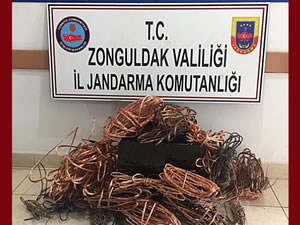 Kablo hırsızlığı zanlısı 4 kişi gözaltına alındı