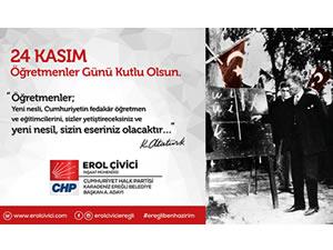 Çivici'nin 24 Kasım Öğretmenler Günü mesajı