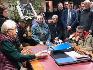 Kestaneci Mahallesi sakinlerinden Posbıyık'a destek