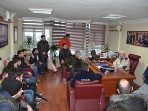 Esnaf gençlerden Posbıyık'a tebrik ve destek ziyareti
