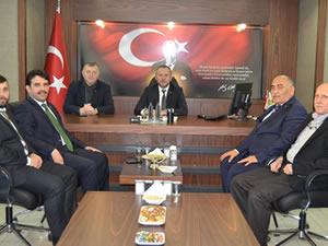 Şahin'den, Kaymakam Çorumluoğlu ve TSO Başkanı Keleş'e ziyaret