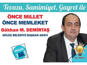 AK Parti Gülüç Belediye Başkan Adayı Gökhan Demirtaş