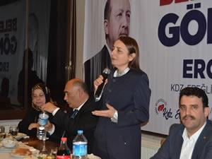 Cumhurbaşkanı Başdanışmanı Saadet Oruç, Şahin'e destek için Ereğli'deydi