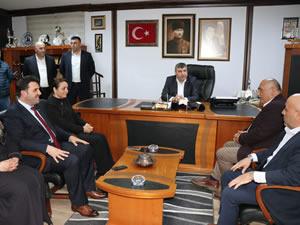 AK Parti Belediye Başkan Adayı Şahin, Türk Metal Sendikası'nı ziyaret etti