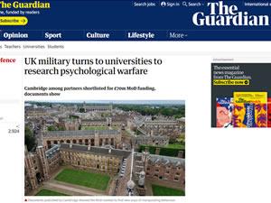 İngiltere ordusu, psikolojik savaş araştırması için yönünü üniversitelere çevirdi