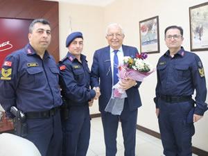 Emniyet ve Jandarmadan Belediye Başkanı Posbıyık'a ziyaret