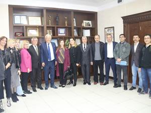 Demokratik kitle örgütlerinden Belediye Başkanı Posbıyık'a tebrik ziyaretleri