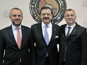 Ereğli TSO Başkanı Keleş, TOBB Başkanı Hisarcıklıoğlu'yla görüştü