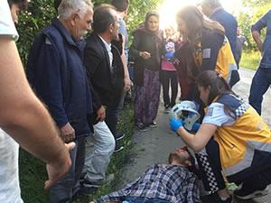 Takla atan patpatın sürücüsü yaralandı