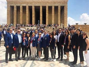 Rotaryenlerden Anıtkabir ziyareti