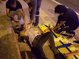 Kaza kurşunuyla yaralandı