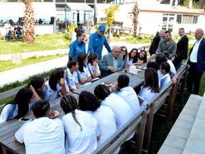 Posbıyık, Ereğli Belediyespor Kadın Futbol takımıyla buluştu