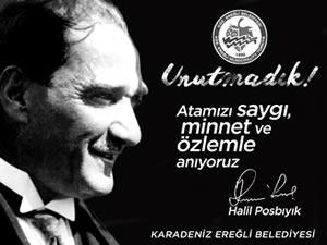 Posbıyık'ın 10 Kasım Atatürk'ü Anma Günü mesajı