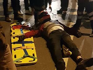 Kaza yapan motosikletli ağır yaralandı