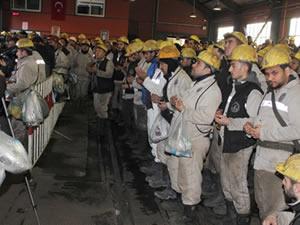 Kozlu'da grizu faciasında yaşamını yitiren madenciler dualarla anıldı