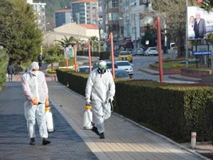 Belediye'nin dezenfekte çalışması sürüyor