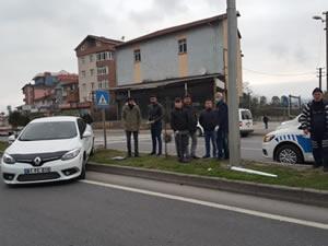 Gülüç'te trafik kazası: Otomobil ile TIR çarpıştı