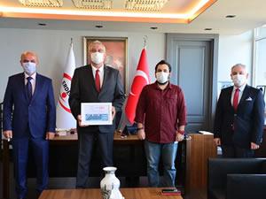 Grizu-263 Uzay Takımı, Erdemir Genel Müdürü Salih Cem Oral'ı ziyaret etti
