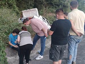 Ereğli-Alaplı Yolu'nda kaza: İki kişi yaralandı