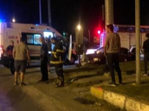 İki otomobilin çarpıştığı kazada bir kişi yaralandı