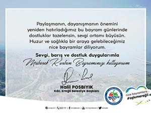 Belediye Başkanı Posbıyık'ın bayram mesajı