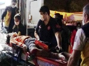 Motosiklet uçuruma yuvarlandı: 2 kişi yaralandı