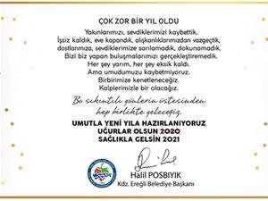 Posbıyık'ın yeni yıl mesajı