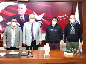 Genç girişimciden Belediye Başkanı Posbıyık'a ziyaret